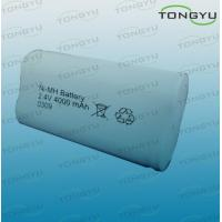 China 4000mAh C NiMh Rechargeable Battery Pack 2.4V for Cell Phones , Electric Bicycles on sale