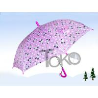 Quality Little Girls Pink Kids Rain Umbrellas Auto Open Metal Frame With Flute Ribs for sale