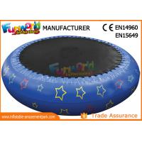 Quality 0.9mm PVC Hot Welding Inflatable Water Toys / Blow Up Trampoline With Logo Printing for sale