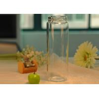 Quality Light borosilicate thermal insulation double wall glass bottle for drinking , Easy carry for sale