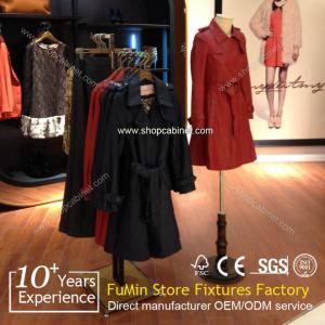 Quality Heavy garment display shelf / chrome coat stand for sale