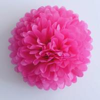 Quality Hot Pink Party Decoration Paper Flower Tissue Paper Pom Poms Balls Craft for sale