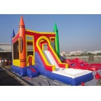 Quality Castle Type PVC Tarpaulin Inflatable Jumping Castle With Slide Inflatable Bouncer Castle for sale