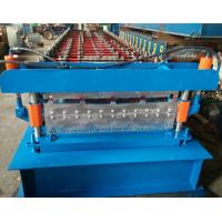 Buy cheap Steel Roofing Sheet Roll Forming Machine PPGI GI IBR Trapezoid , Roof Sheet Rolling Machines from wholesalers
