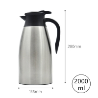 Quality Leak Proof Stainless Steel 68 Ounce Vacuum Insulated Teapot for sale