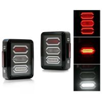 Quality Jeep Smoked LED Tail Lights / Reverse Daytime Running Lamps ABS + PC Material for sale