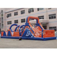 China Residential PVC Red Inflatable Obstacle Course CE UL For Birthday Party on sale