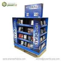 China Advertising POS Floor Display Stand, Corrugated Cardboard Display on sale