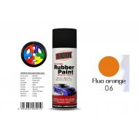 Quality 400ml Rubber Coat Spray Paint With Fluo Orange Color APK-8201-6 for sale