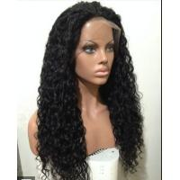Buy Mixed Color 100% Peruvian glueless human hair full lace wigs With Combs / Straps at wholesale prices