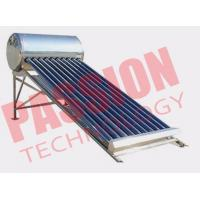 Quality 120L Integrated Solar Water Heater Tubes , Solar Hot Water Heater System For Family for sale