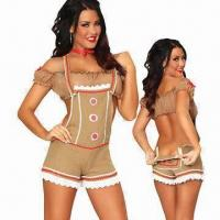 Quality Sexy Gingy Costume, Includes Choker, Top and Bottom, with Size from XS to 4XL for sale