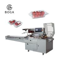 Quality BG-450W Electrical driven OPP film packed with gusset in tray vegetable packing machine for sale