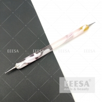 Quality Two-Way Pink Marbleizing Painting Nail Dotting Pen And Striping Stick Tool for sale