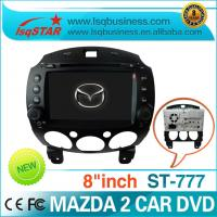 Quality 8 Inch TFT LCD Mazda DVD GPS With Bluetooth driver / Audio Player For Mazda 2 for sale