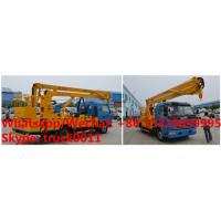 Quality factory sale 2018s 14m-16m fold arm type High altitude working platform Aerial truck crane truck with working bucket for sale