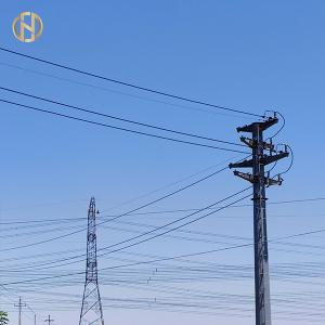 Quality Gray Color Galvanized Octagonal Steel Pole 69KV NEA 50FT 55FT 60FT 65FT 70FT for sale