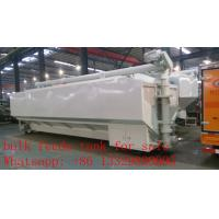 Quality 37m3 bulk feed tank mounted on cargo truck for sale, best price CLW poultry animal feed tank mounted on cargo truck for sale