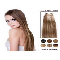 Quality Piano Long 100 Remy Colored Human Hair Extensions Soft Straight Human Hair Bundles for sale
