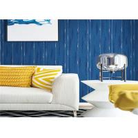 Quality Blue Washable Contemporary Textured Wallpaper Embossed For Wall Background for sale