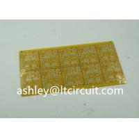 Buy Gloss Yellow Impedance Controlled PCB 4 Layer High TG 100ohm at wholesale prices
