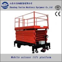 Quality Electric and Diesel dual engine four wheels mobile scissor lift platform for sale