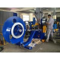 Quality Mitsubishi PLC Spiral Duct Machine with Roll Shear Cutting for Steel Strip / Fixed Mould for sale