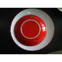 Quality Stoneware Plate in Red, Passed Lead and Cadmium FDA, CA65, CPSIA, 84/500/EEC and LFGB for sale