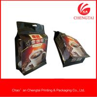 Quality 408 G Square Bottom Coffee Packaging Bags With Light -Proof Resistance for sale