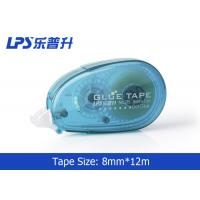 China Plastic PET Office Sticky Roller / Two Sided Glue Tape with Easy Touch Cap on sale