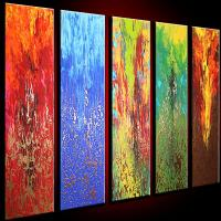 Quality abstract painting art flower 60x60cm cafe wall decor for sale