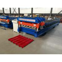 Quality 4 Meter / Min Servo Motor Glazed Tile Roll Forming Machine new style cutter for sale