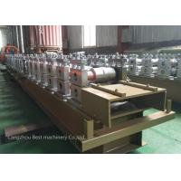 Quality Touch Screen Operate Shutter Door Roll Forming Machine PLC Control 5.5m X 1m X 1.4m Dia for sale