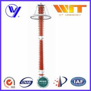220KV Red Transmission Line Surge Arrester , Composite Polymer Lightning Arrestor