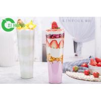 Quality Straw Slotted Hard Clear Plastic Cups With Lids No Deformation No Flavor for sale