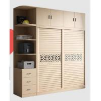 Quality Integrated Wooden Wardrobe Closet Fashion With Wood - Plastic Moving Door for sale