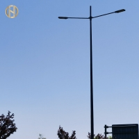 Buy cheap Single Arm / Double Arm 10M Q235 Street Light Pole from wholesalers