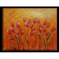 Quality abstract flower painting hotel room wall picture for sale