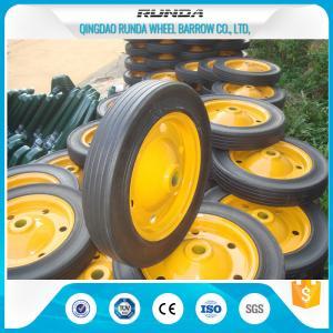 Quality Lightweight Solid Rubber Wheels Steel Rim 150kg Loading Fits Wheelbarrow Wb3800 for sale