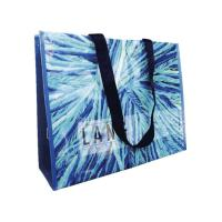 Quality Promotional PP Woven Laminated Bags for Grocery , 80gsm Woven PP Fabric Bags for sale