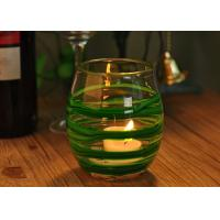 Quality Round Decorative Glassware Bowls Mouth Blown Candle Holder For Home for sale