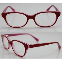 Quality Red Spectacles Glasses Frames , Vintage Acetate Kids Eyewear Frames for sale