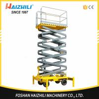 Buy Factory direct sell 300kg 3m four-wheel mobile hydraulic scissor lift platform at wholesale prices