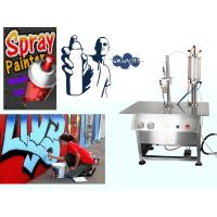 Quality Aerosol Canned Chrome Spray Paint Filling Machine / Production Line Semi Automatic for sale