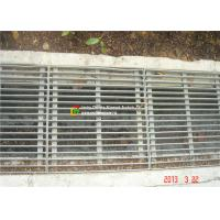 China Flat / Round Bar Steel Grate Drain Cover For Port Drainage Channels on sale