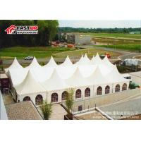 Quality Anti Rust Octagonal Party Tent , White Marquee Tent With Double Wing Glass Door for sale