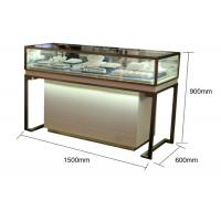 Quality Pre - Assembled Structure Jewelry Store Display Cases With Stainless Steel Frame for sale