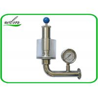 Quality Adjustable Automatic Pressure Relief Valve / Sanitary Union Exhaust Pressure Valve for sale
