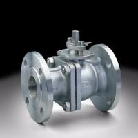 Quality Flange Connection 2 Way Ball Valve , Grey Color Pneumatic Actuated Ball Valve for sale