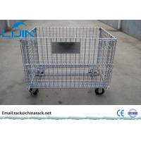 Buy cheap Anti - Corrosion Wire Mesh Storage Cages With Wheelers Stackable And Portable from wholesalers
